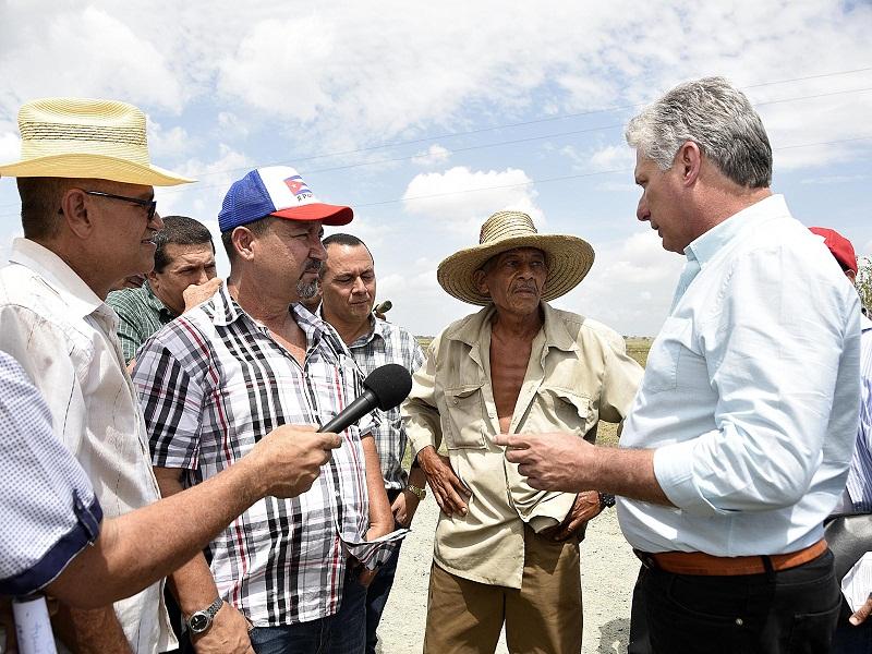 Miguel Diaz Canel Visits the Province of Holguin