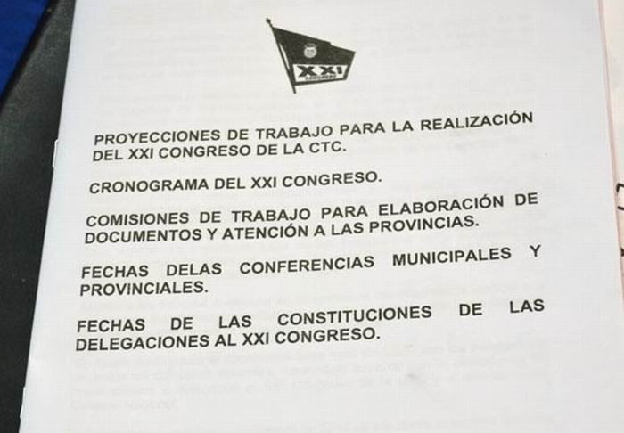XXI Congreso CTC. Foto: Eddy Martin