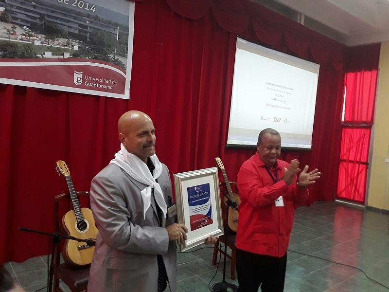 Reconocen a Gerardo Hernández en Universidad de Guantánamo