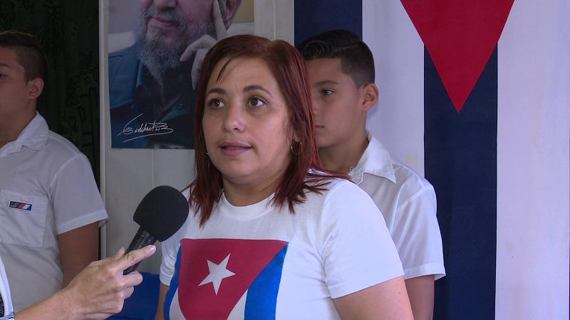 Votó en la mañana de hoy Susely Morfa González