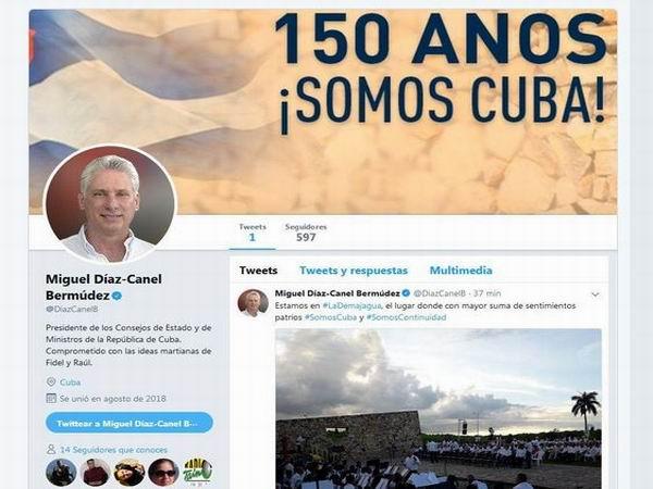 Presidente cubano abre cuenta oficial en Twitter