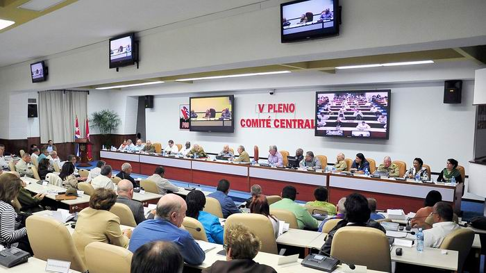 Cuba Communist Party central committee holds plenary session