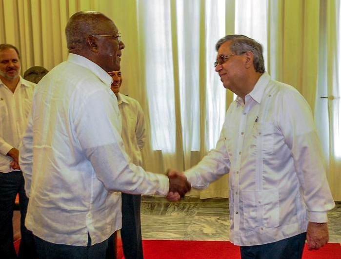 Recibió Valdés Mesa al Vicepresidente de Guatemala