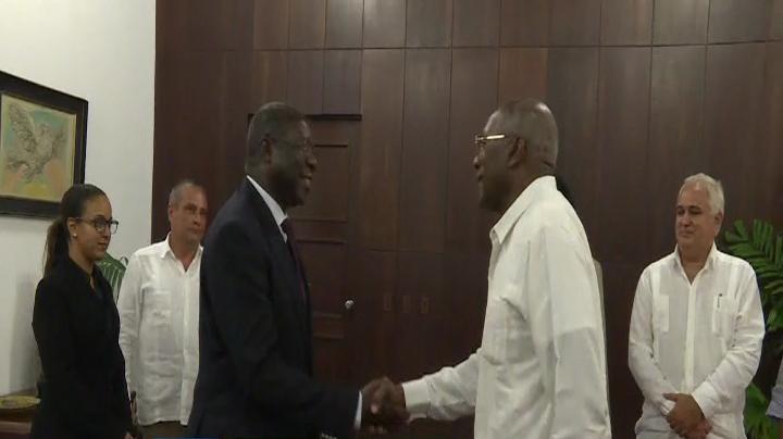 Recibe Valdés Mesa a Vicepresidente de la Comisión de Unión Africana