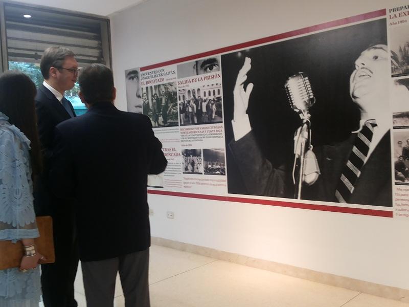 """Visita Presidente de Serbia Exposición Fotográfica WFidel y la política exterior de la Revolución Cubana"""""""