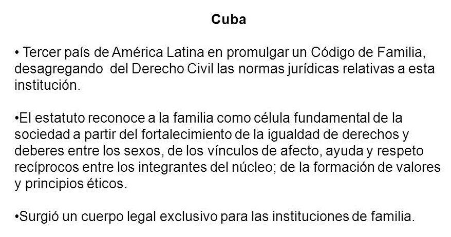 La familia en Cuba