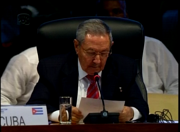 Raul Castro Delivers Speech at CELAC Summit