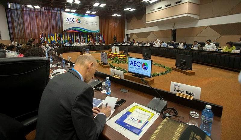 Segmento de Altos Funcionarios de la VII Cumbre de la Asociación de Estados del Caribe en el Palacio de Convenciones de La Habana. Foto: Ismael Francisco