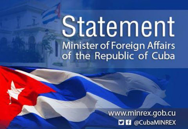 Cuba issues statement on OAS aggressions against Venezuela