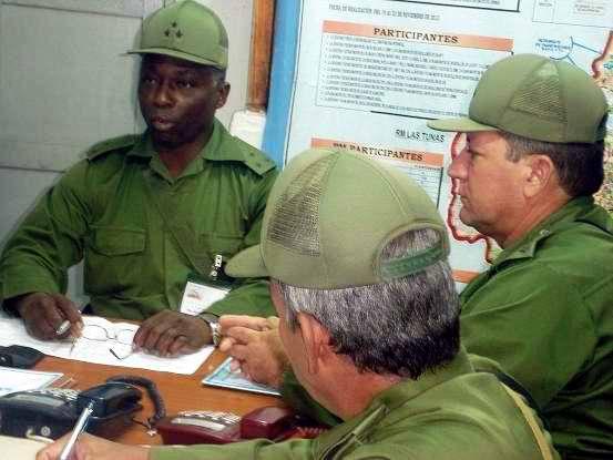 Con la anticipación debida, se realizaron las puntualizaciones  en los Sectores Militares de la Región de Holguín. Foto Aroldo García