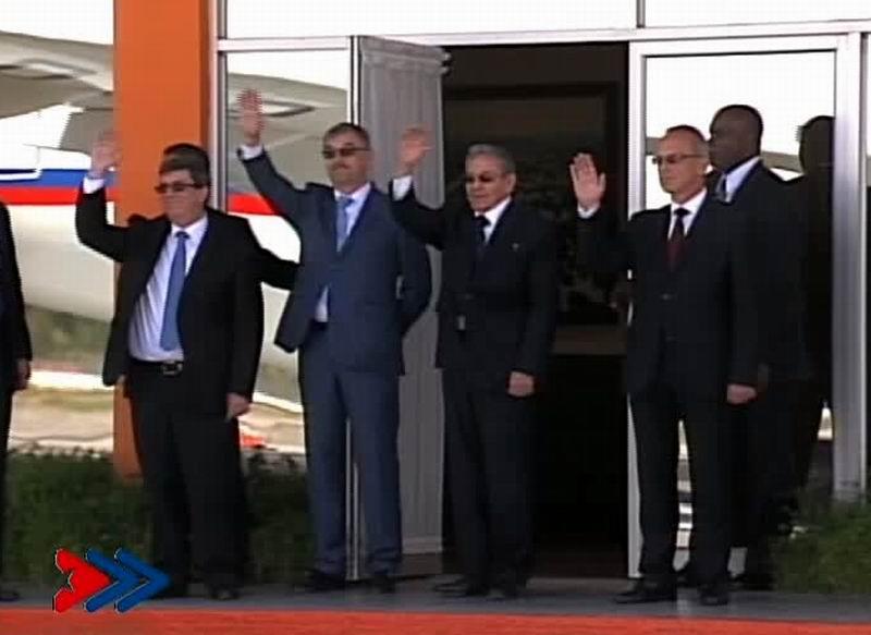 Raúl Castro Ruz, presidente de los Consejos de Estado y de Ministros de Cuba despidió a Su Santidad Kirill, Patriarca de Moscú y de toda Rusia que concluyó su visita oficial a la Isla iniciada el pasado 11 de febrero