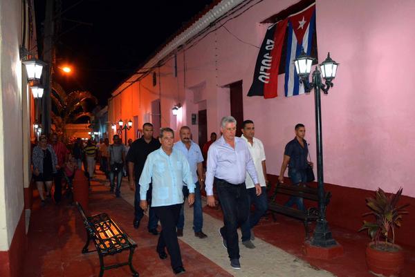 Visita primer vicepresidente cubano instalaciones Sancti Spíritus. Foto: Osvaldo Guitérrez