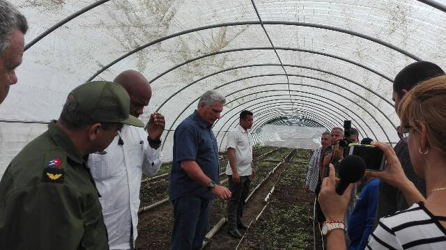 Recorre Díaz-Canel zonas afectadas por Michael en Pinar del Río