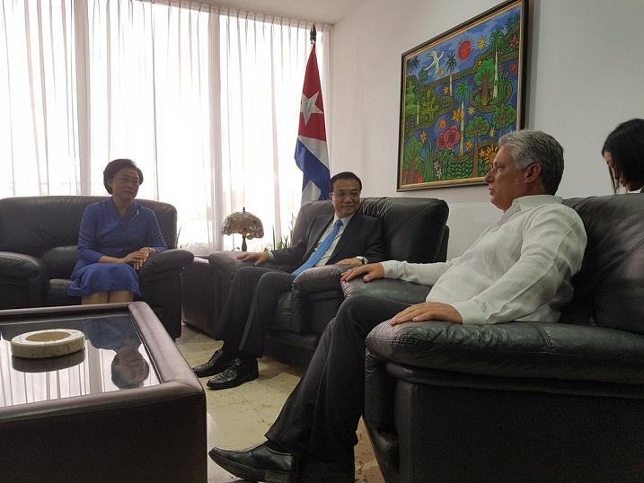 Arrib� a La Habana Primer Ministro de China, Li Keqiang