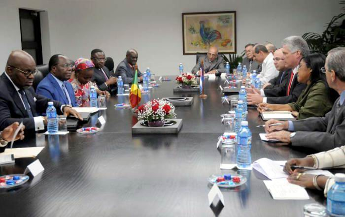 Cuban First VP receives Congolese Premier