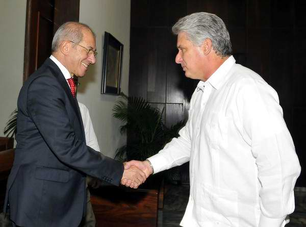 Cuban First VP Meets with Visiting OPCW Director General