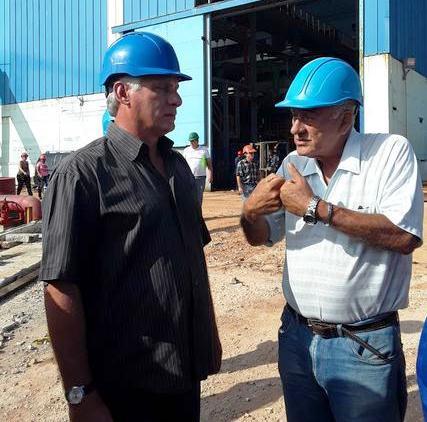 Elogia Díaz-Canel tareas de recuperación en Termoeléctrica Antonio Guiteras