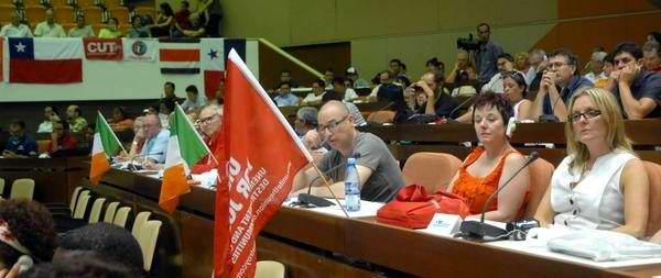 Vista del plenario del X Encuentro Internacional de Solidaridad con Cuba, en el Palacio de las Convenciones, en La Habana, el 02 de mayo 2012. Foto: Oriol de la Cruz Atencio/AIN