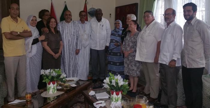 Presidente del Parlamento cubano recibe a su homólogo saharaui
