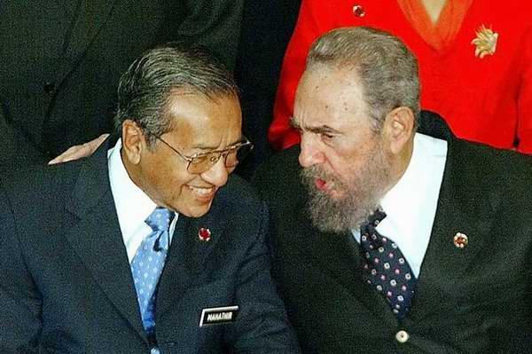 Rinde tributo a Fidel ex primer ministro malasio