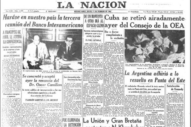 1962: EE.UU. insiste en la expulsión de Cuba de la OEA