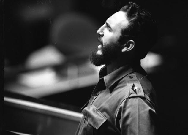 Fidel en su primera presentación en la Organización de Naciones Unidas en 1960