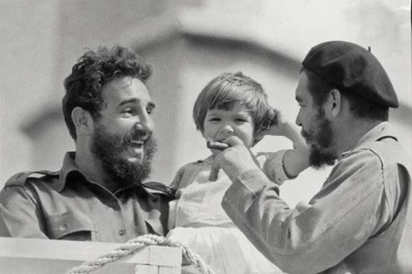 Con Fidel y el Che en el Palacio de Torcedores