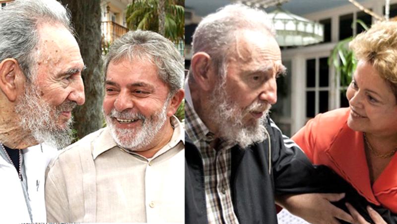 Asistirán Dilma y Lula a funeral de Fidel en Santiago de Cuba