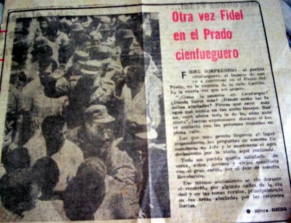 Fidel en el Prado cienfueguero
