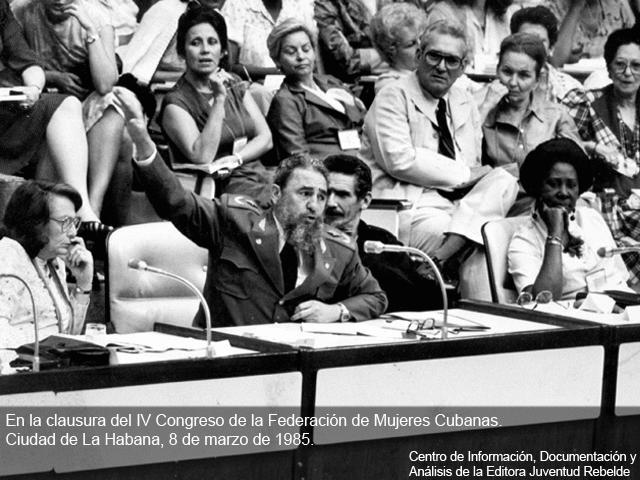 Fidel Castro: Las mujeres han llenado páginas inolvidables (+Audio)