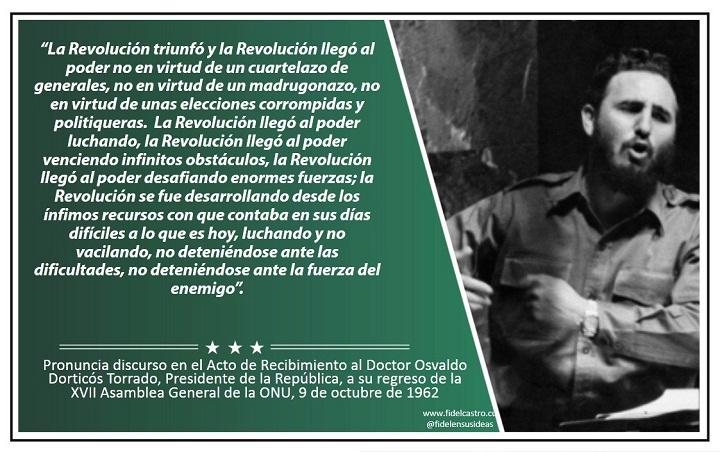 Fidel Castro: La verdad de Cuba se hizo sentir en Naciones Unidas