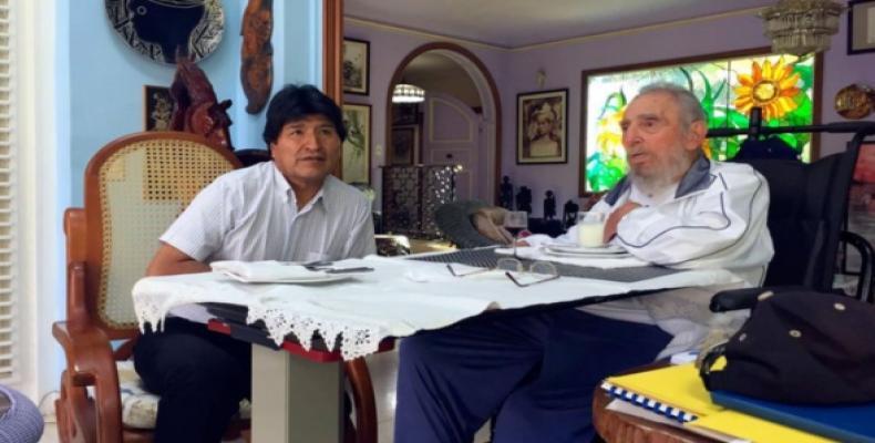 Recibi� Fidel al presidente de Bolivia (+ Fotos)
