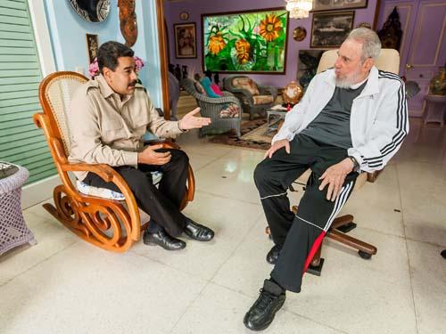 Recibió Fidel a Nicolás Maduro.Foto: Alex Castro