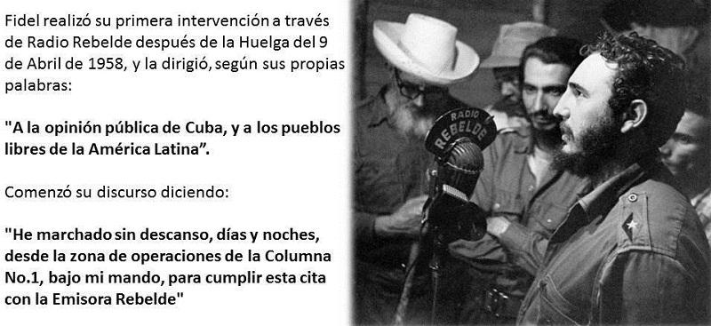 Fidel en Radio Rebelde