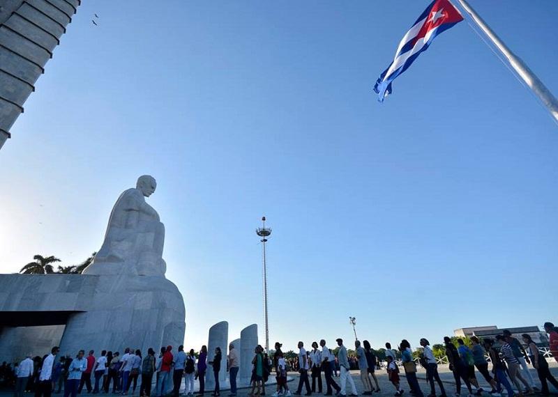 Homenaje a Fidel en la Plaza de la Revolución José Martí. Foto: Abel Rojas