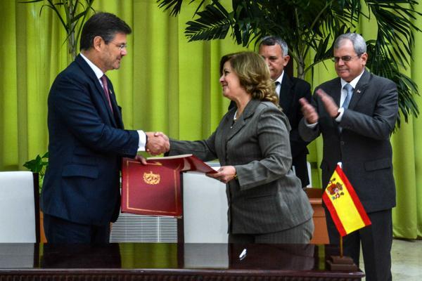 Firman Cuba y España Memorando de Entendimiento sobre justicia (+Fotos)