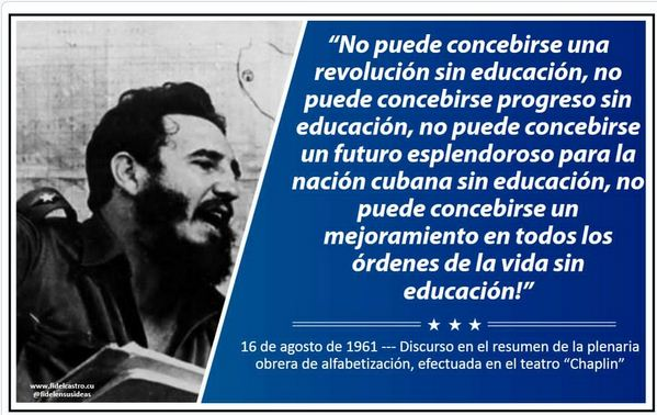 Fidel y la Educacion en Cuba