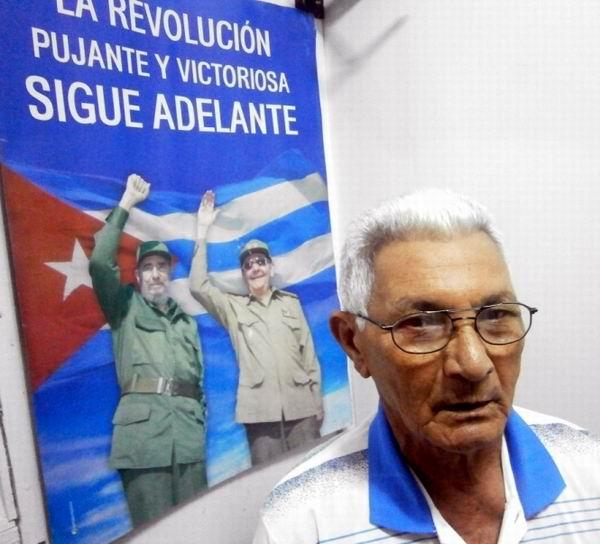 Uno de los  jóvenes combatientes que acompañó a Fidel, el  actual General de Brigada de la Reserva de las Fuerzas Armadas Revolucionarias, Marcelo Verdecia Perdomo, Presidente de la Asociación de Combatientes de la Revolución Cubana en Cienfuegos. Foto: Mireya Ojeda