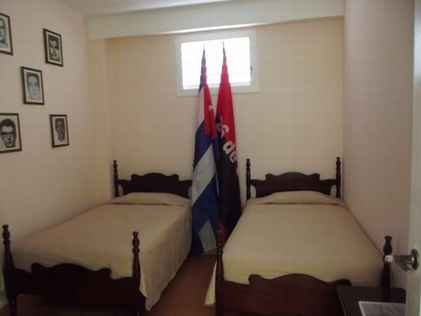 La habitación 36 en la que se alojó Abel Santamaría queda como pieza museable. Foto Miozotis Fabelo