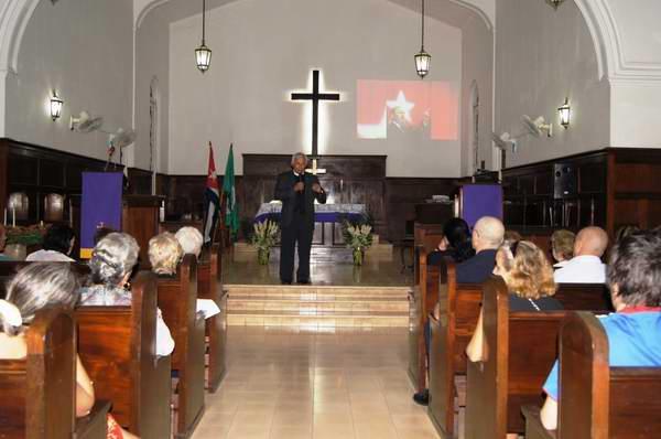 Emotivo tributo ecuménico a Fidel Castro en Matanzas. Foto: José Miguel Solís