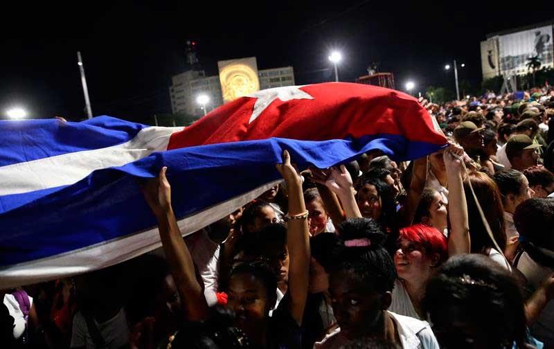 acto de homenaje a Fidel en La Habana
