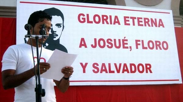 Josue, Floro y Salvador se multiplican en nuestras escuelas y universidades, señaló Josué Hernandez, presidente de la FEU en Santiago de Cuba. Foto: Carlos Sanabia
