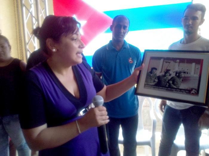 Homenaje juvenil a moncadistas y expedicionarios del Granma . Foto: Carlos Serpa