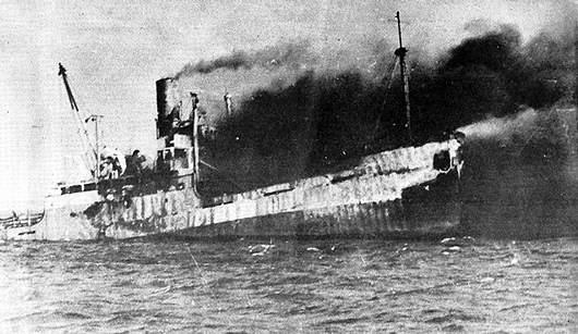 Abatimiento del buque Houston en Playa Girón