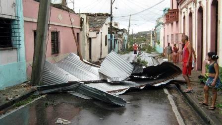Daños del hurancan Sandy en la calle Hernán Cortés. Foto. Carlos Sanabia