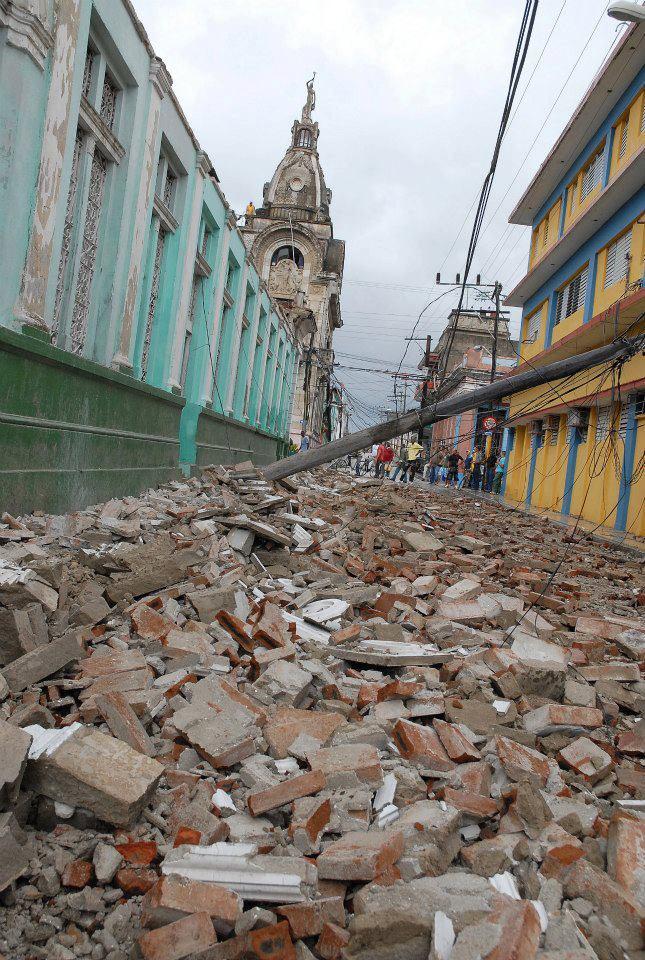 Daños causados por el paso deL huracán Sandy, en Guantánamo, Cuba, el 25 de octubre de 2012.