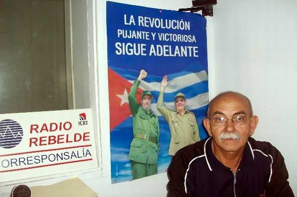El Presidente de la Unión de Periodistas de Cuba en esta provincia del centro sur del Archipiélago, Jesús Rodríguez Díaz