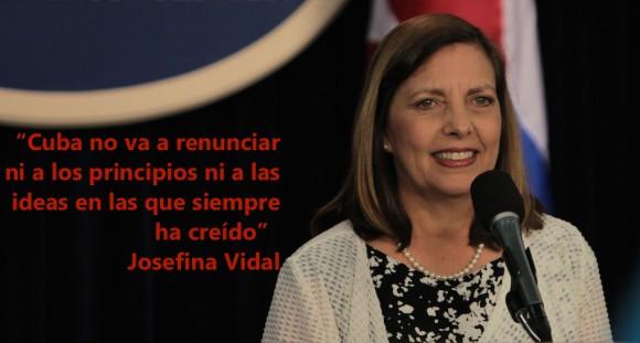 Josefina Vidal, habla sobre Comisión Bilateral Cuba-EEUU en Conferencia de Prensa