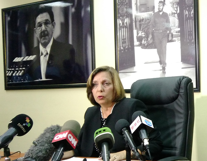 Josefina Vidal Rejects Accusation against Cuba in US Congress