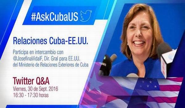 Responder� Josefina Vidal preguntas a trav�s de Twitter sobre relaciones Cuba-EE:UU